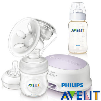 PHILIPS AVENT 輕乳感PP標準型單邊電動吸乳器+PES奶瓶330ml(單入)超值組