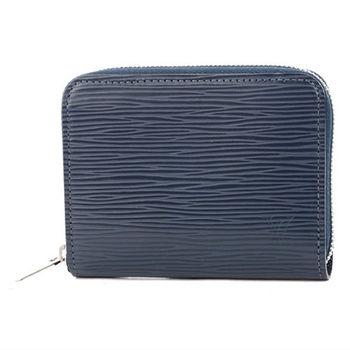 LV M60384 EPI 水波紋皮革信用卡拉鍊零錢包.靛藍_預購