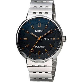 MIDO All Dial 羅馬競技系列特別版機械腕錶-黑x橘時標/42mm M834041819