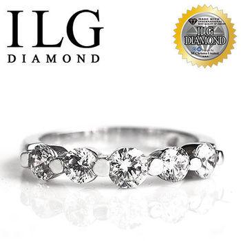ILG鑽 頂級八心八箭擬真鑽石戒指 歐式線戒款 RI048 鑽戒求婚戒新娘水鑽鋯石戒指