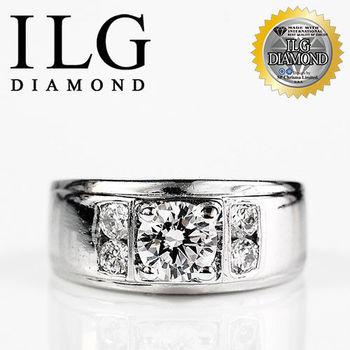 ILG鑽 頂級八心八箭擬真鑽石戒指 非凡氣度款 主鑽約1.02克拉 RI044 優雅男士