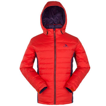 【聖伯納 St.Bonalt】男-可拆式連帽極暖羽絨外套-桔紅(88014)