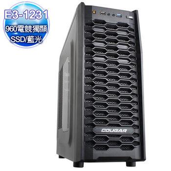 微星Z97平台【法印懲擊】E3四核 960-4G獨顯 128SSD大容量燒錄電腦