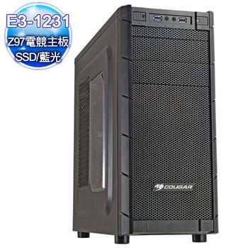 微星Z97平台【毀滅穿刺】E3四核750-1G 128G SSD大容量燒錄電腦