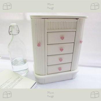 【Hong-Yi 宏宜木器】飾品收納粉紅公主櫃