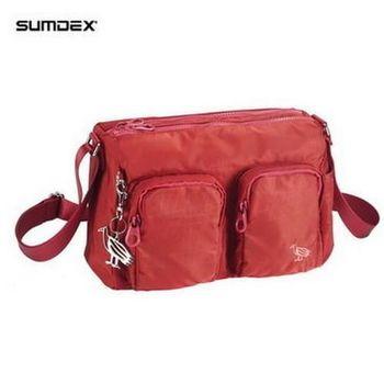 【SUMDEX】NOA-628BN 樂.遊 雙袋側肩包(火星紅)