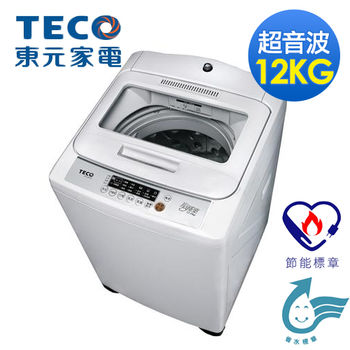 【TECO東元】12公斤 FUZZY人工智慧定頻超音波洗衣機 W1209UN