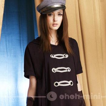 【ohoh-mini】愛情上尉連帽雙排釦長版孕婦上衣