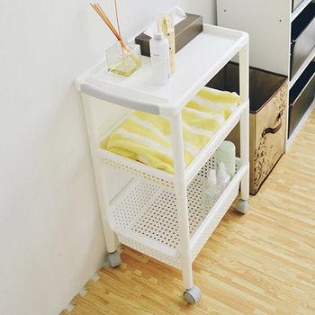 《舒適屋》簡約日系廚房三層推車/收納車-32x48cm