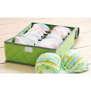 多彩多格有蓋內衣收納盒 置物盒 整理盒 內衣 內褲 襪子 領帶等小物 (7格+16格+24格 3入一組)