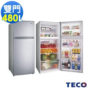 TECO東元 480公升新能耗1級變頻雙門冰箱 R4881XLH