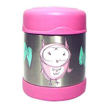 【THERMOS膳魔師】0.3L貓頭鷹不鏽鋼真空食物罐 F3001OW6