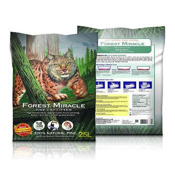 【Forest Miracl】森林奇跡 天然松木砂/貓砂 25L x 1包