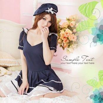 公主風格.深藍魅力水手服