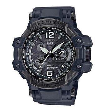 CASIO G-SHOCK 世界首款GPS與最強六局電波接收碳纖維限量腕錶-舊金屬色-GPW-1000V-1A