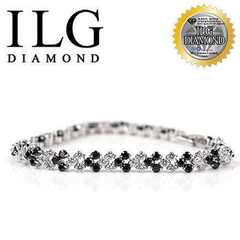 ILG鑽 頂級八心八箭擬真鑽石手鍊 超美密鑽個性愛心款 BR029 可愛女孩禮物犒賞自己