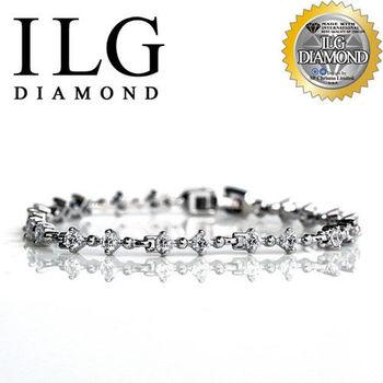 ILG鑽 頂級八心八箭擬真鑽石手鍊 心動時刻款 BR0015 女朋友驚喜禮物告白