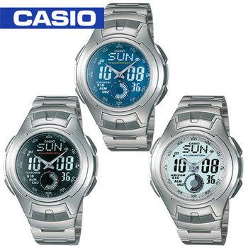 【CASIO 卡西歐】日系-多功能雙顯運動錶(AQ-160WD)