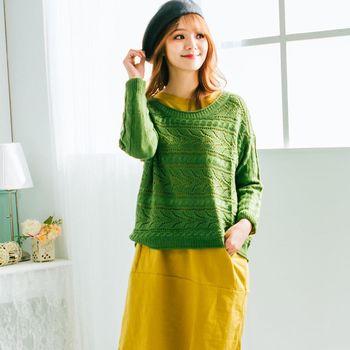 iima 時尚甜心針織上衣(綠)