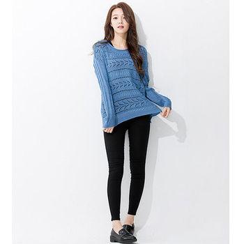 iima 時尚甜心針織上衣(藍)