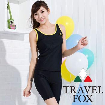 夏之戀TRAVEL FOX】顯瘦運動風兩件式泳衣-加大碼(C15707)