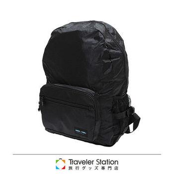 《Traveler Station》HAPI+TAS 摺疊後背包 新款-1黑色