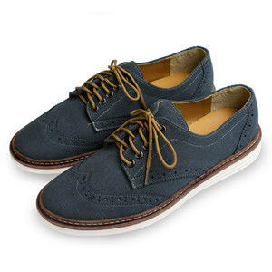 PLAYER  麂皮牛津舒適休閒男鞋 (FTP14) 藍色