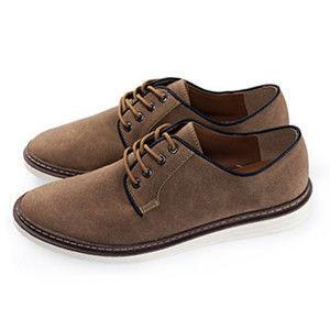 PLAYER 麂皮純色素面休閒男鞋  (FTP12) 棕色