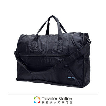 《Traveler Station》HAPI+TAS 摺疊圓形旅行袋(小)新款-1黑色