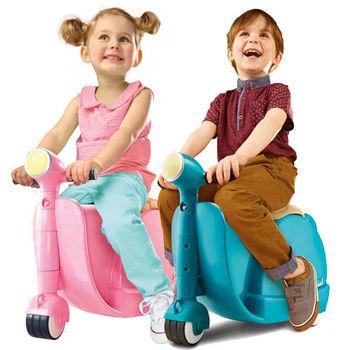 福利品-英國SKOOT拉風旅行摩托車行李箱 2色可選(潮青瓦、甜美粉)