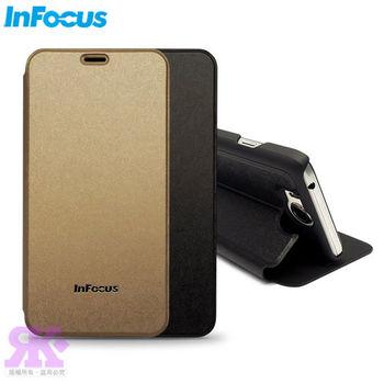 InFocus M530原廠璀璨羽絲紋可立式皮套 -贈保護貼