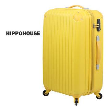 【HIPPOHOUSE】可加大‧24吋超輕量ABS硬殼防刮霧面行李箱(黃)