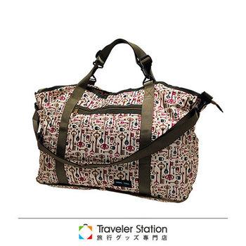 《Traveler Station》HAPI+TAS 摺疊旅行袋 /媽媽包 新款-235米白鑰匙