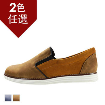 PLAYER 百搭拼接懶人鞋  (FTP06) 棕色