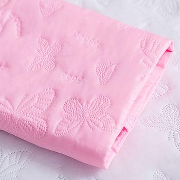 J‧bedtime【蝶舞飛揚】加大床包式防塵防汙保潔墊(粉蝶)