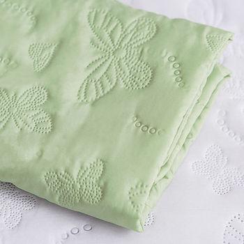 J‧bedtime【蝶舞飛揚】雙人床包式防塵防汙保潔墊(綠蝶)