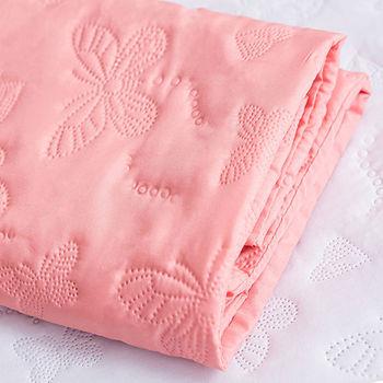 J‧bedtime【蝶舞飛揚】單人床包式防塵防汙保潔墊(粉橘蝶)