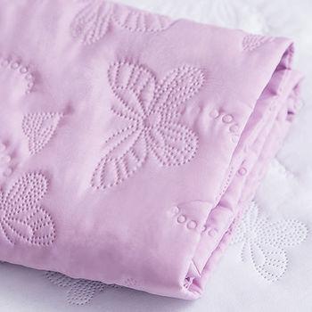 J‧bedtime【蝶舞飛揚】單人床包式防塵防汙保潔墊(粉紫蝶)