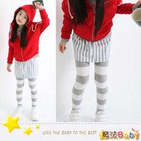 魔法Baby ^#126 俏皮合身森林系自然條紋裙褲 ^#126 女 ^#126