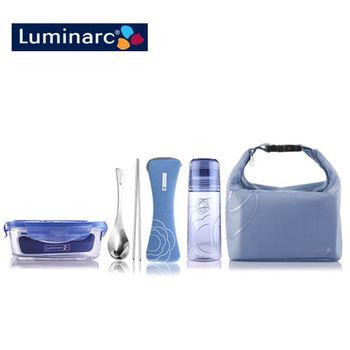 【樂美雅Luminarc】凡爾賽玻璃保鮮盒五件套