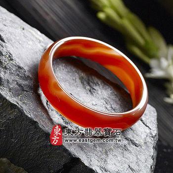 【東方翡翠寶石】天珠紅瑪瑙玉髓手鐲玉鐲(紅色,微透光,圓鐲#18.5)RM015