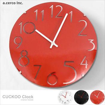 【a.cerco】純色風格玻璃數字時鐘(三色可選)/掛鐘/鬧鐘/LOFT風/設計/工業風