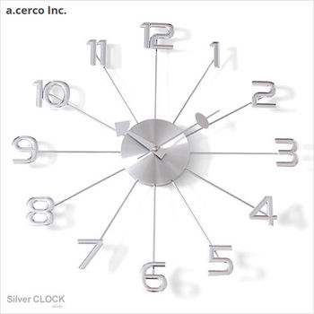 【a.cerco】高質感鋁製大數字時鐘
