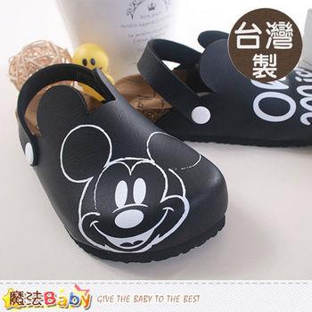 魔法Baby~台灣製迪士尼米奇正版親子鞋款兒童舒適鞋~sh8718