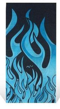 百變魔術頭巾男女運動嘻哈圍脖夏季戶外防曬面罩脖套騎行圍巾裝備(火焰)