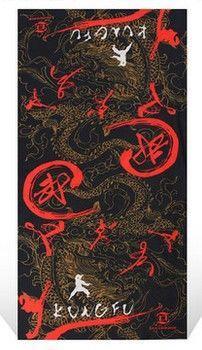 百變魔術頭巾男女運動嘻哈圍脖夏季戶外防曬面罩脖套騎行圍巾裝備(中國功夫-紅)