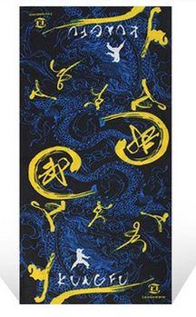百變魔術頭巾男女運動嘻哈圍脖夏季戶外防曬面罩脖套騎行圍巾裝備(中國功夫-藍)
