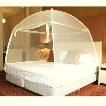 【威克爾】三開門大U型帳棚式蕾絲蚊帳-標準雙人床(150x190x150cm)