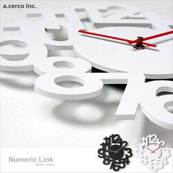 a.cerco 台灣靜音機芯 立體數字造型掛鐘 (兩色可選)