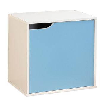 【Hopma】水藍配白單門收納櫃
